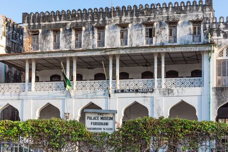 Stone Town , Zanzibar-February 28, 2019 : the palace museum facade