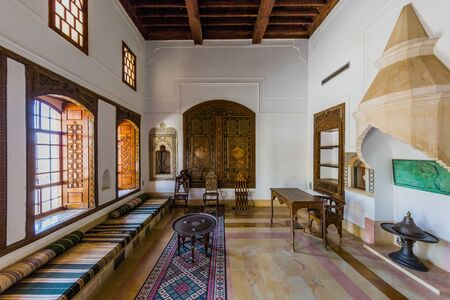 Beiteddine,Lebanon- April 28 ,2017: Emir Bachir Chahabi Palace Beit ed-Dine in mount Lebanon Middle east Editorial