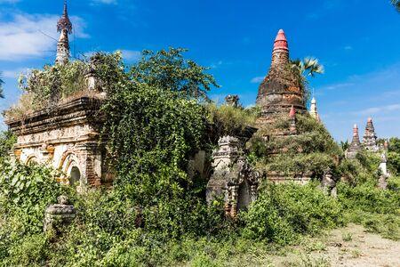 A Myint ruins old city village in Chaung-U township near Monywa Stockfoto