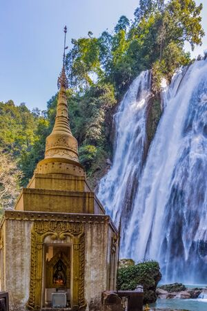 Dat Taw Gyaint Waterfall Anisakan Pyin Oo Lwin Mandalay state Myanmar (Burma)