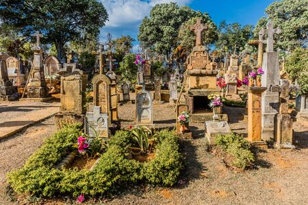 Barichara, Colombia - February 10, 2017 : Cemetery of Barichara Santander in Colombia South America Editorial