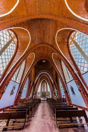 Villa De Leyva, Colombia - February 7, 2017 : Iglesia Parroquial Santa Rosa De Lima of Santa Sofia Boyaca in Colombia South America