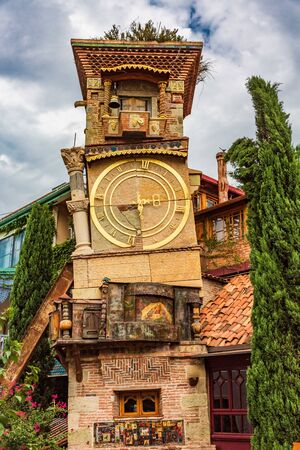 The Leaning Clock Tower landmark of Tbilissi Georgia capital city eastern Europe