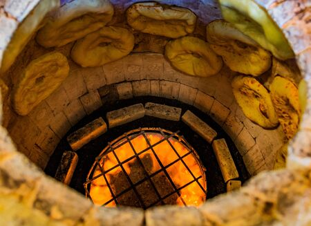Puri Tandoor oven bread making in a bakery of Ninotsminda Samtskhe Javakheti region Georgia eastern Europe