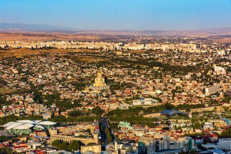 cityscape skyline of Tbilissi Georgia capital city eastern Europe
