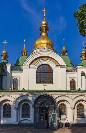 Kiev , Ukraine - August 30, 2019 : Saint Sophia Cathedral Landmark of Kiev Ukraine Europe