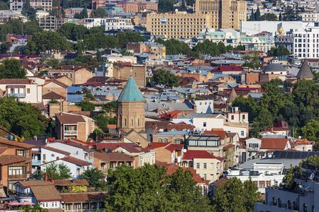 cityscape skyline of Tbilisi Georgia capital city eastern Europe Stock fotó