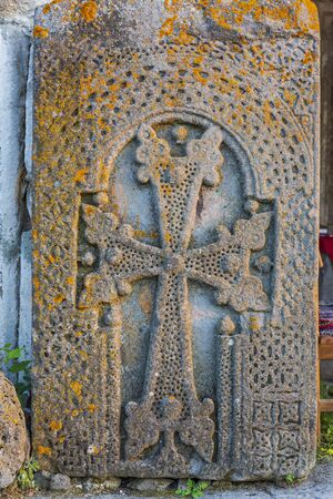 religous christian cross Armenian Khachkar tombstone eastern Europe