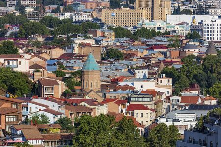cityscape skyline of Tbilisi Georgia capital city eastern Europe 版權商用圖片