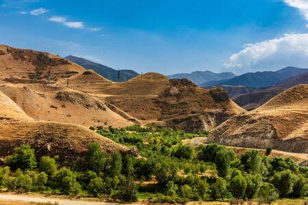 Vorotan area landscape scenic Syunik Armenia landmark