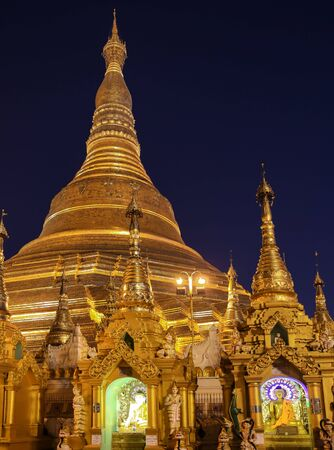 Shwedagon Pagoda Yangon in Myanmar
