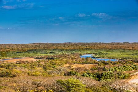 landscape panorama of the Padre Ramos natural reserve in Chinandega Nicaragua