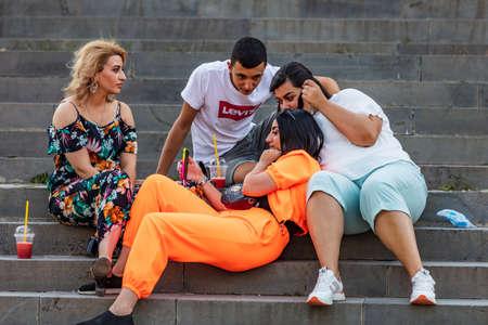 young people Kalbasi Park Gyumri Shirak Armenia landmark