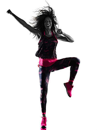 woman cardio dancer dancing fitness fitness exercises isolated white background Stock Photo - 150829669