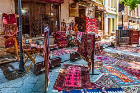 handcraft made carpet shop old town Tbilisi Georgia Europe landmark Stock Photo - 150893558