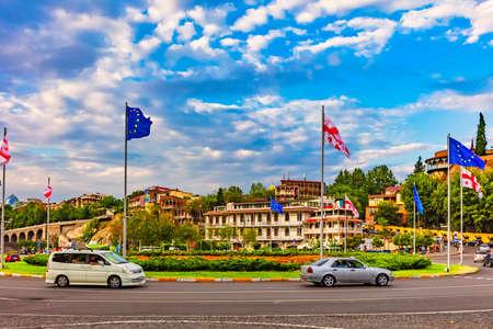 Europe square Tbilisi Georgia city landmark Stock Photo - 150893561
