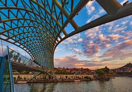The Bridge of Peace Tbilisi Georgia Europe landmark