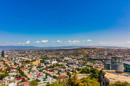 cityscape skyline of downtown Tbilisi Georgia capital city eastern Europe Stock Photo - 150769590