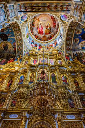 Pechersk Lavra Monastery of the Caves ceiling Kiev Ukraine Landmark Stock Photo - 150896617