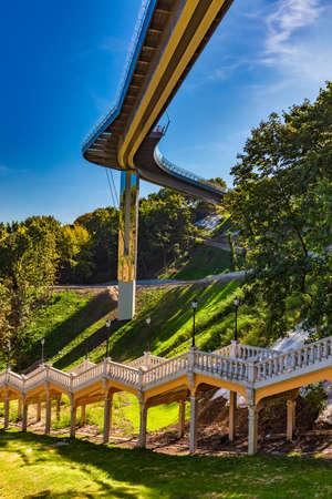 Stairs to the monument of Magdeburg Law Mariinsky Park Kiev Ukraine Landmark Stock Photo - 150922136
