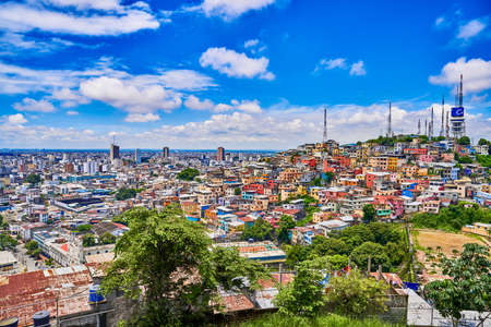 cityscape skyline of Guayaquil Ecuador in south america