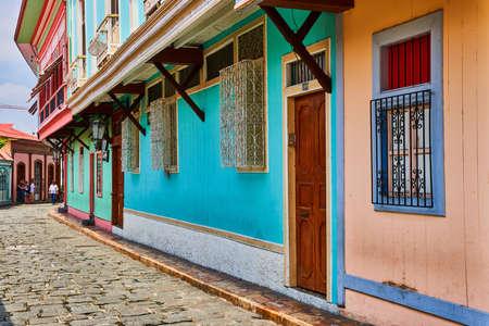Guayaquil , Ecuador- March 7 , 2020 : colorful pedestrian street of Las Penas on santa Anna hill district landmark of Guayaquil Ecuador in south america Stock Photo - 150995198