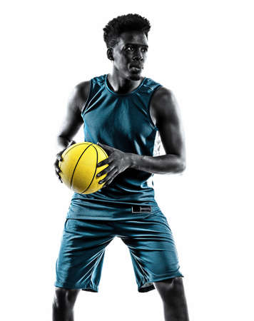 african basketball player young man isolated white background Stock Photo - 151546464