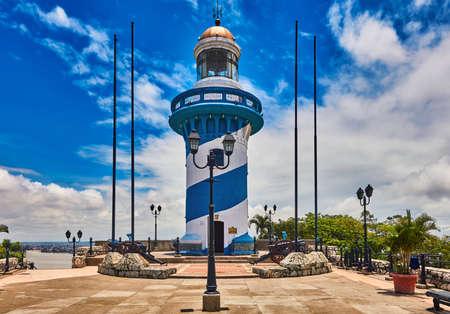 Lighthouse Santa Anna fort Las Penas Guayaquil Ecuador landmark
