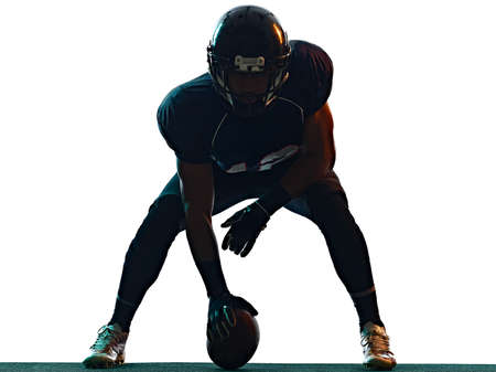 american football player man isolated white background