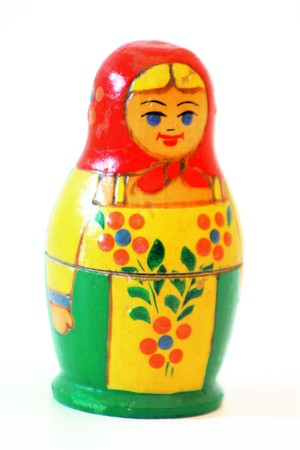 Matryoshka Russian doll toy Stock Photo