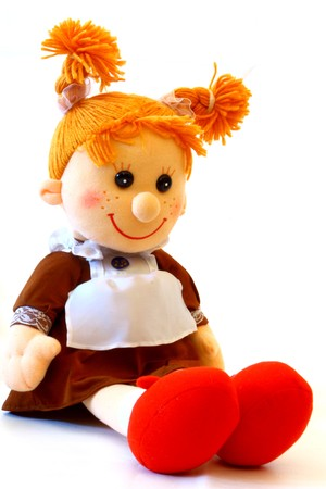 poupée de chiffon scool  Banque d'images