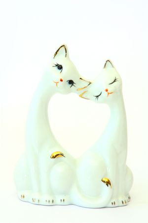 porcelain figurine cat lovers photo
