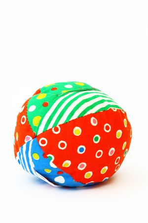 rag toy ball Stock Photo