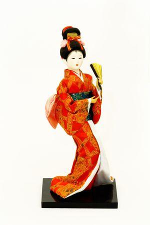 vestidos de epoca: Doll japon�s  Foto de archivo