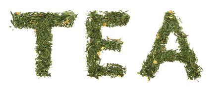 Word TEA green tea photo