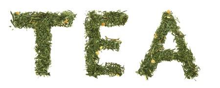 Word TEA green tea