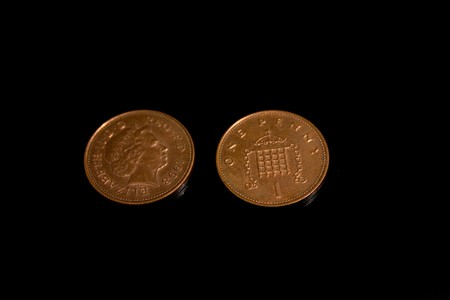 One copper penny, a person of Queen photo