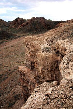 rock stone steppe in Kazakhstan, Charyn Canyon photo