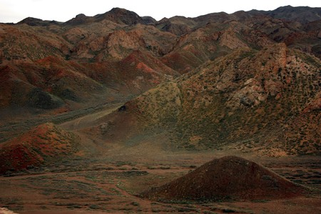 toroweap: The hills in the canyon road Stock Photo