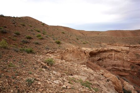 toroweap: The hills are transformed into the canyon rock