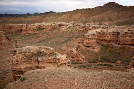 Charyn canyon near Almaty, Kazakhstan Stock Photo