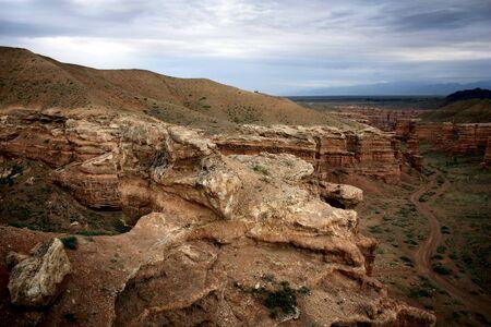 Charyn canyon near Almaty, Kazakhstan photo