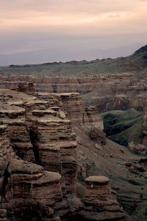 vertical shore canyon Charyn photo