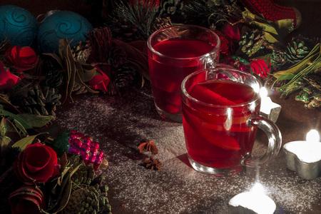 Christmas mulled wine pine