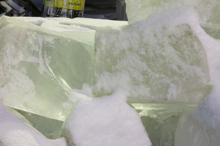 limpid: Ice bricks. Ice for construction of ice-house