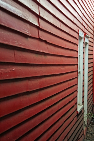 Red wall with a window