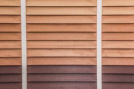 jalousie: Close up of wooden jalousie window. Brown