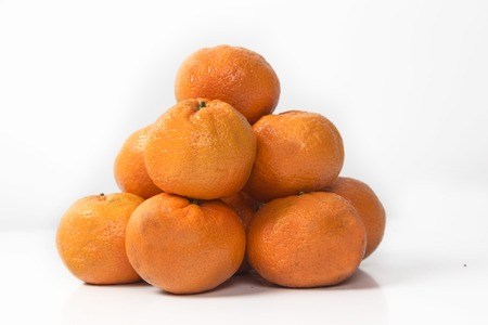 Sweet orange fruit on white background. isoleted Stock Photo