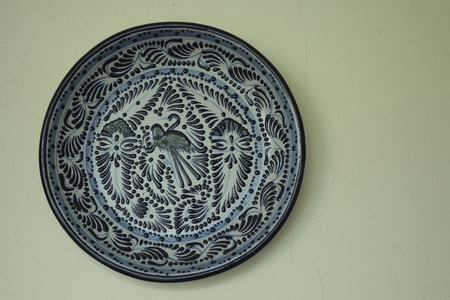 plate for decoration and food made in mexico