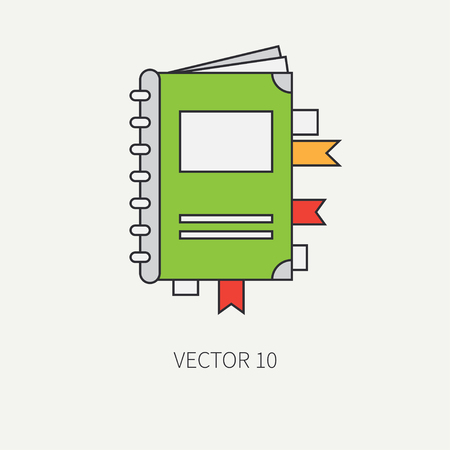 screenplay: Line flat color vector icon elements of filmmaking and multimedia - scenario. Cartoon style. Cinema. Vector illustration and element for your design , wallpaper. Collection. Screenplay. Movie.